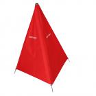 Zástěna 100cm - červená