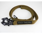 Vodítko s karabinou Kong Frog coyote  - 1, 1,5, 2m