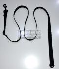 Vodítko posuvné černé 25mm/120-200cm - černé