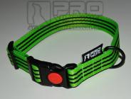 Obojek zelený s proužkem - 25mm/35 - 45cm, 45 - 65cm v černé