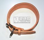 Obojek kožený přírodní s prošitím dvouvrstvý - šířě 6cm/délka 40-60cm