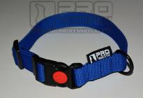 Obojek modrý - 25mm/ 35 - 45cm, 45 - 65cm v černé
