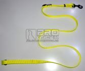 Vodítko posuvné žluté 25mm/120-200cm - černé
