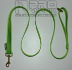 Vodítko zelené s pruhy 25mm / 1, 1,5, 2m , v mosazi