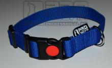 Obojek modrý - 25mm/35- 45cm, 45 - 65cm v pozink