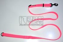 Vodítko posuvné růžové 25mm/120-200cm - černá