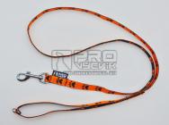 Vodítko oranžové tlapička -  15mm/135cm