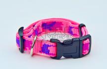 Obojek růžový maskáč- 15mm/23-34cm